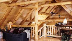 The original idea of wooden home interior