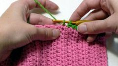 How to knit crochet neck