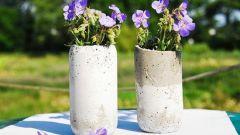 Как сделать оригинальную вазу своими руками