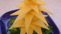 Украшаем Новогодний стол: делаем елочки из сыра
