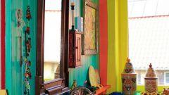 Цветная ванная комната