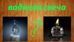 Как сделать водяную свечу