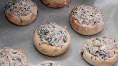Фаршированные грибы по-гречески