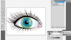 Как нарисовать векторный глаз