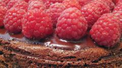 Песочный пирог с малиной