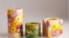Цветочная свеча