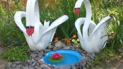 Как сделать лебедя из покрышки своими руками