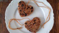 Как сделать кормушку для птиц в форме сердец