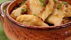 Как приготовить вареники с картофелем