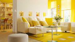 Интерьер в желтом цвете