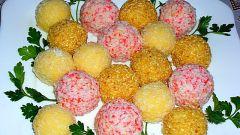 Как приготовить шарики из крабовых палочек