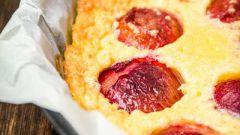 Как приготовить французский пирог со сливами
