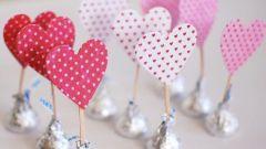 Как украсить конфеты на день Святого Валентина