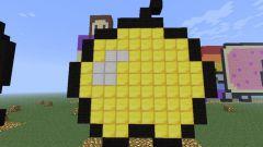 Как сделать золотое яблоко в minecraft