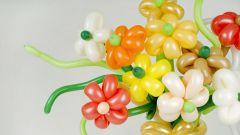 Как сделать ромашку из надувных шаров