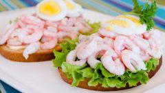 Как приготовить норвежский бутерброд с креветками