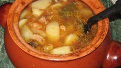 Как приготовить густой суп в горшочке