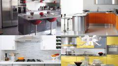 Кухня в цвете серый металлик
