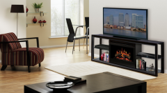 Как совместить камин и телевизор