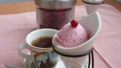 Творожно-клюквенное мороженое