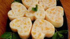 Десерт из заварного крема с цитрусовыми нотками