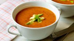 Острый фасолевый суп-пюре с авокадо