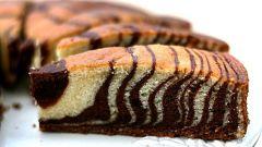 Как приготовить в мультиварке торт «Зебра»