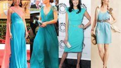 С какими аксессуарами можно носить бирюзовое платье