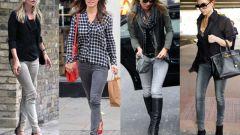 Что надеть с серыми джинсами