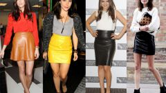 What to wear with leather skirt