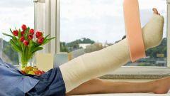 Первая помощь при переломе, вывихе и ушибе ноги