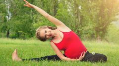 Can a pregnant woman doing stretching exercises of the legs