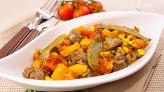 Запеченная говядина с овощами