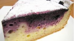 Пирог из творога с черникой