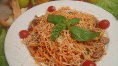 Как приготовить спагетти в ореховом соусе