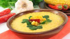 Как приготовить пикантный кукурузный суп с молоком