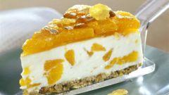 Как приготовить творожный торт с мандаринами