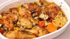 Как запечь куриные голени в духовке с базиликом