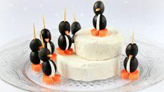 Как приготовить закуску в виде пингвинов
