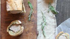 Как запечь мясо в багете по-тоскански