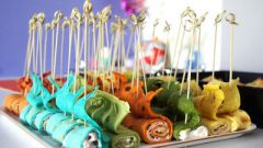 Готовим разноцветные блинчики