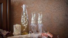 Как правильно оформлять и декорировать свадебные бокалы
