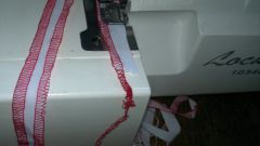 How to sew on the serger