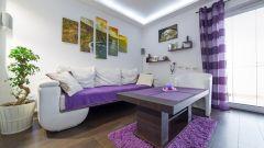 Дизайн интерьера. Вариации с фиолетовым цветом