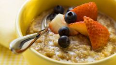 How to cook oatmeal with fruit