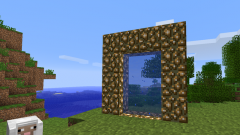 How to make a portal to the city without mods in Minecraft