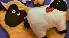 """Как сделать игрушку-подушку """"Овечка"""""""