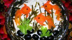 """Готовим салат """"Золотые рыбки"""""""