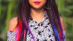 Цветные мелки для волос и способы их применения