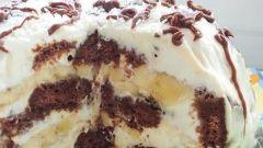 Как сделать торт из пряников с бананами и сметаной
